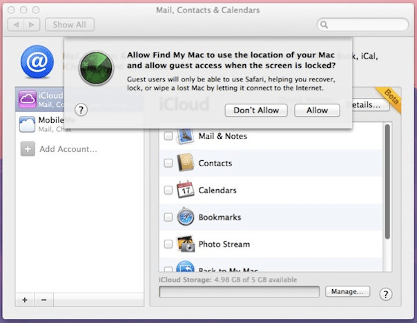 How to use find my iPhone on mac?